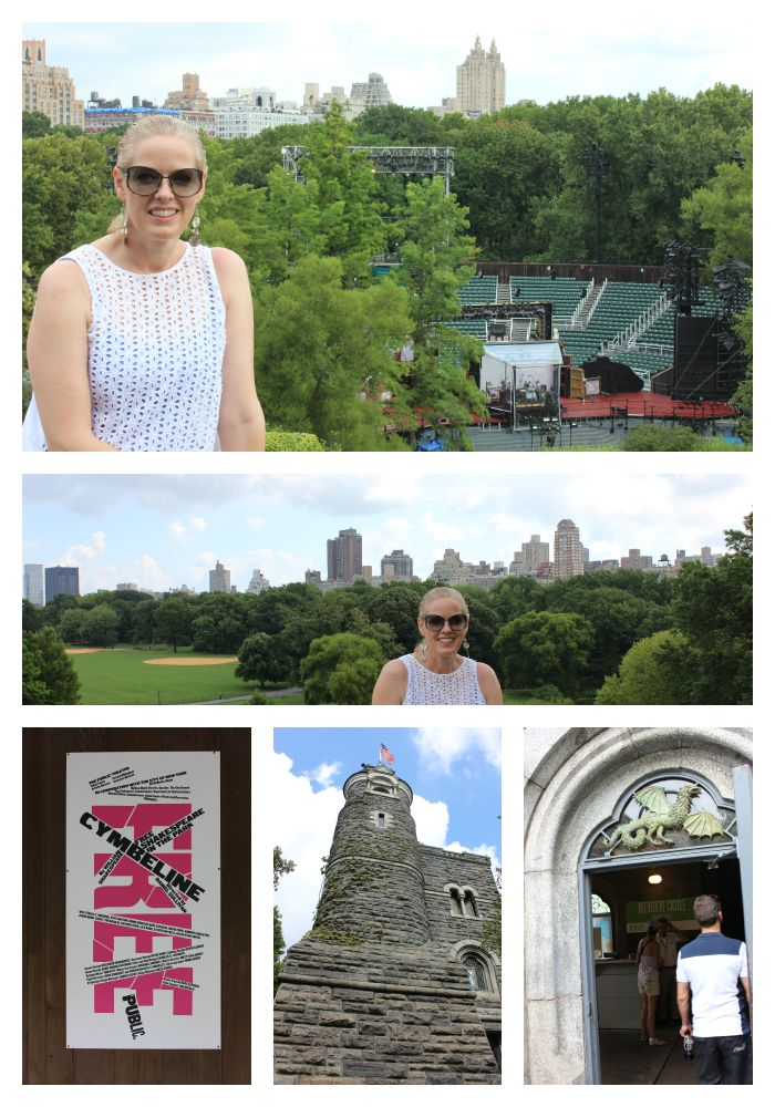 From the top of Belvedere Castle overlooking the Shakespeare Theatre
