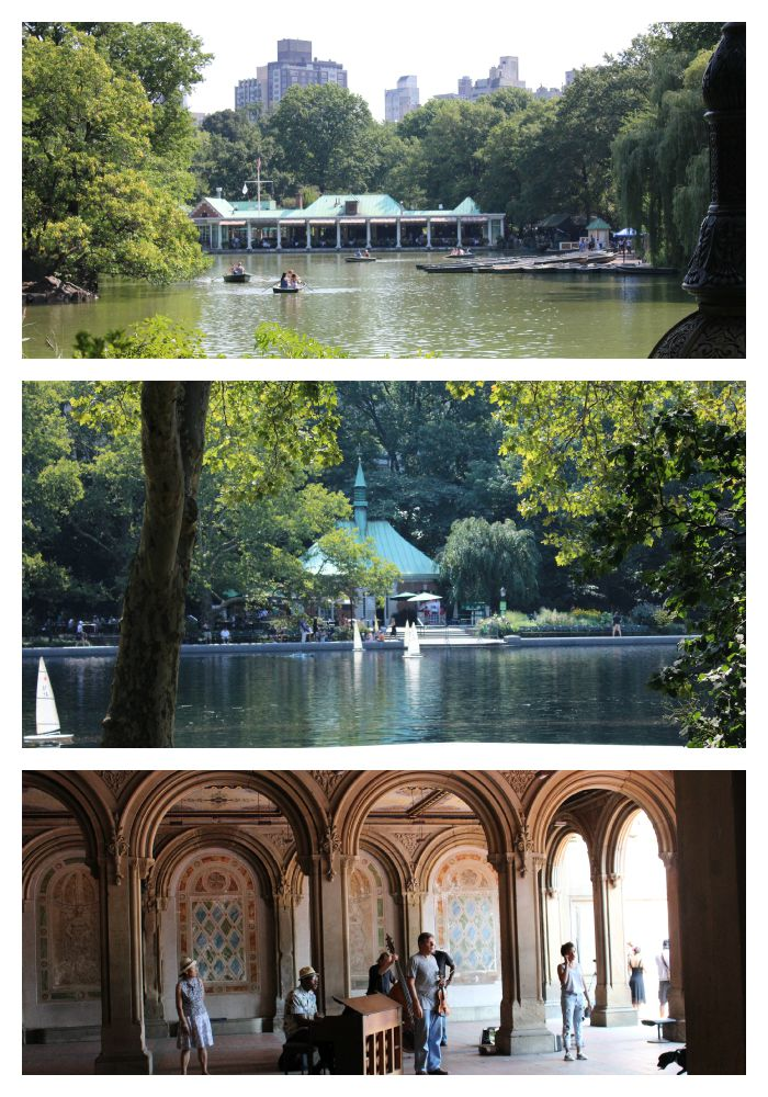 Boathouse and Entertainment in Central Park NY