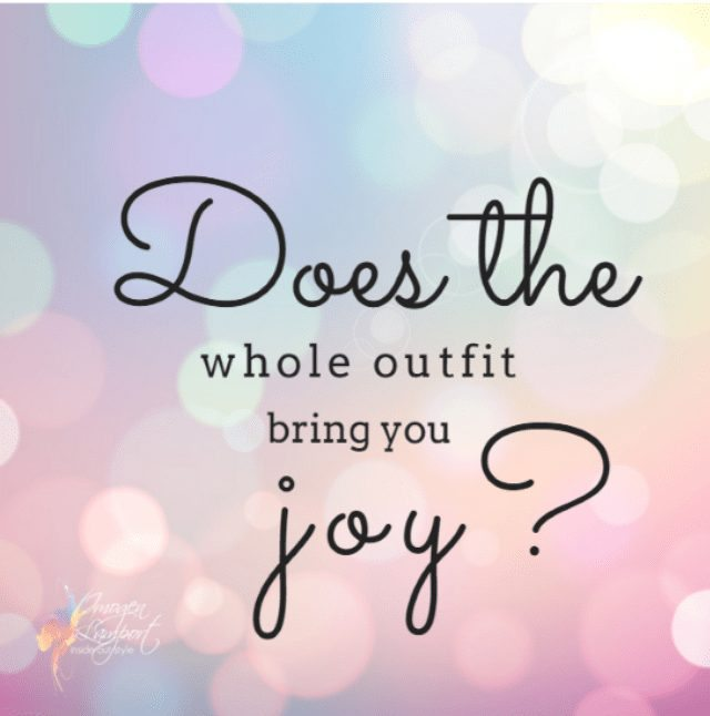 Does the whole outfit bring you joy?  Inside Out Style blog - should you keep the garment or toss it