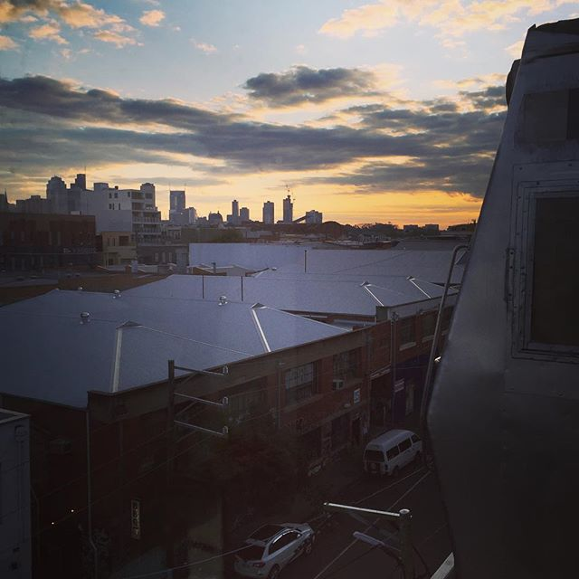 View from Easeys burger joint in Collingwood