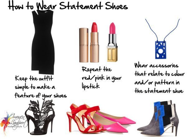 how to wear statement shoes