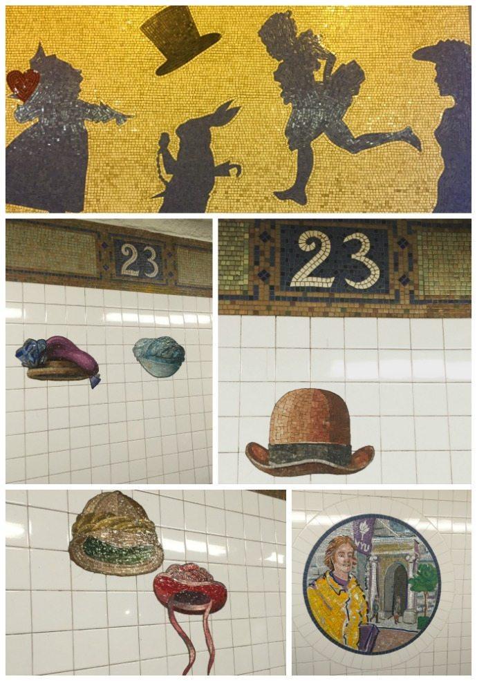 NY Subway art mosaics