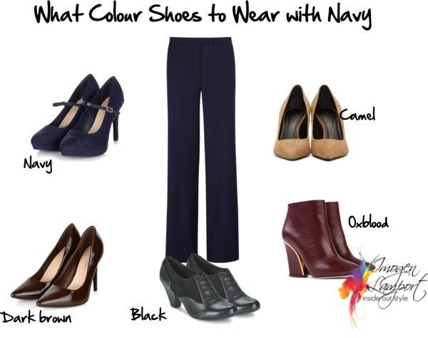 what colour shoes to wear with navy