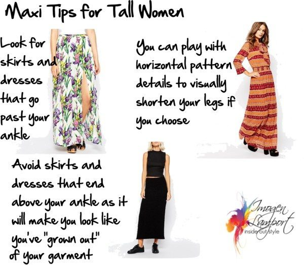 maxi tips for tall women