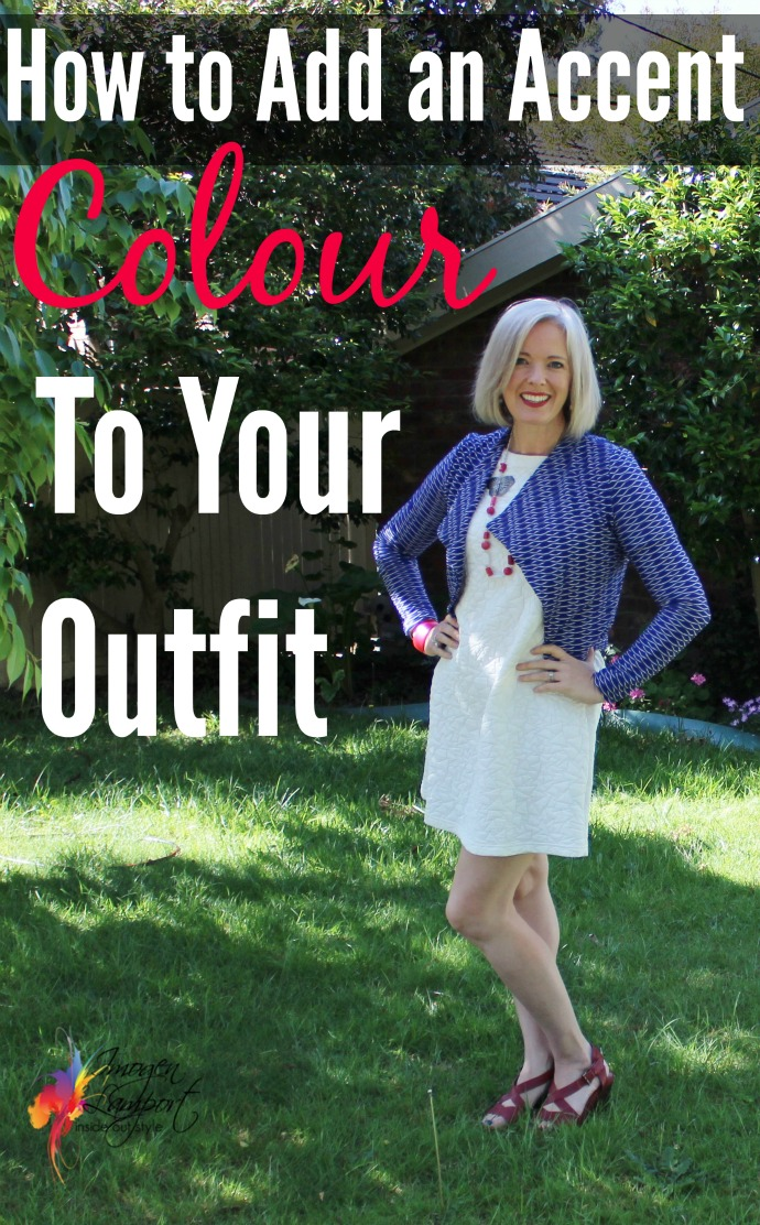how to add an accent colour to your outfit