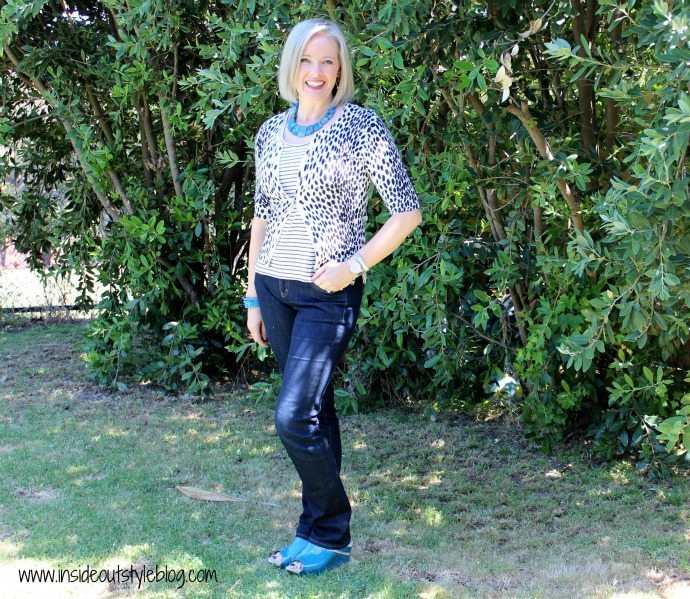 how to wear stripes with dots