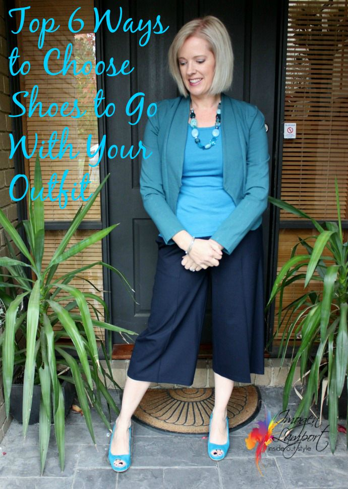 top 6 ways to choose shoes to go with your outfit - Inside Out Style Blog