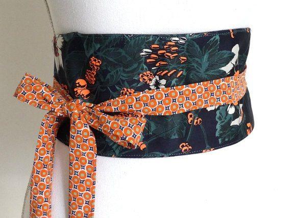 Gorgeous warm colouring obi belt