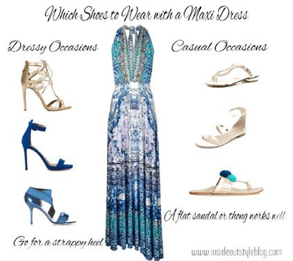 Shoes for formal maxi dress