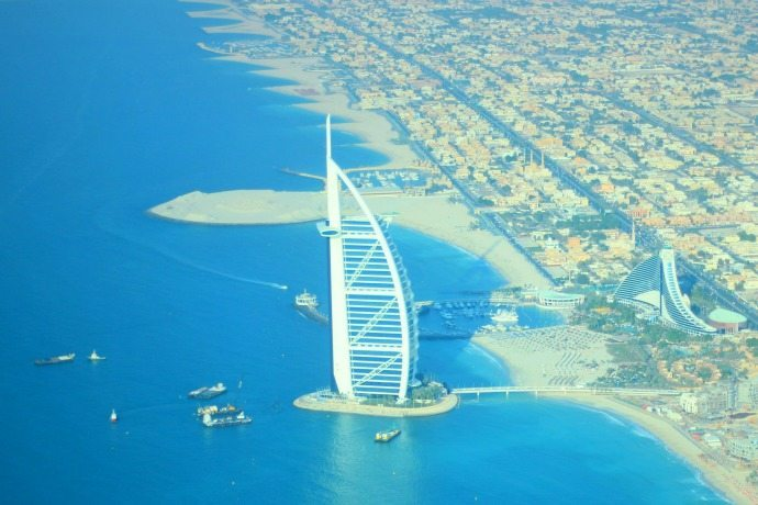 Burj al Arab from Seawings