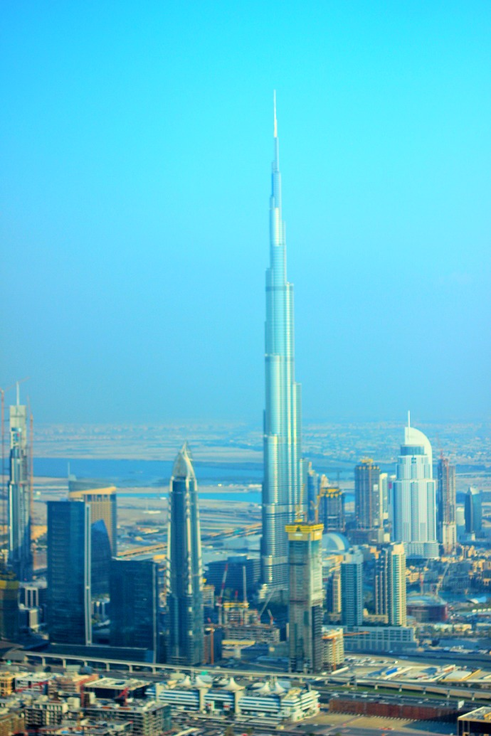 Burj khalifa from seawings