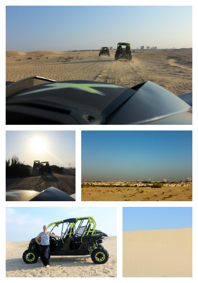 Dune Buggy Driving in the Sand dunes of Dubai