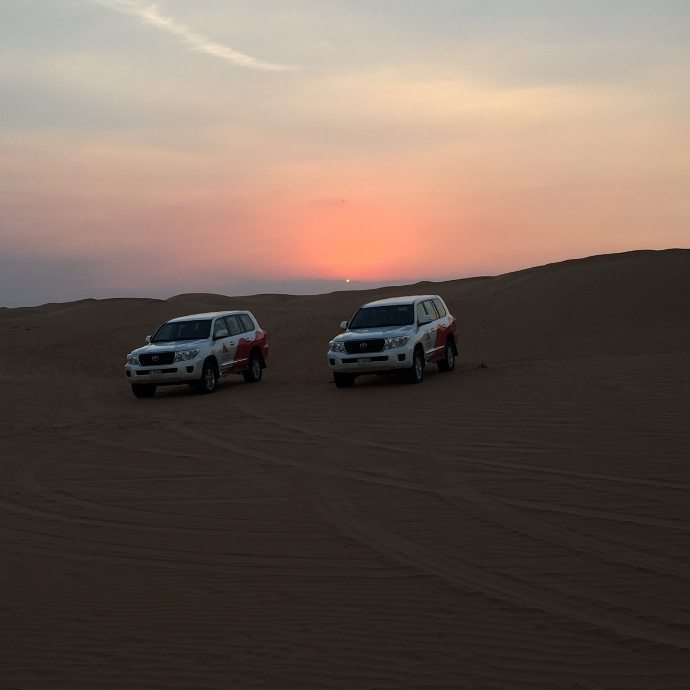 Dune driving in the Desert of Dubai with Arabian Adventures