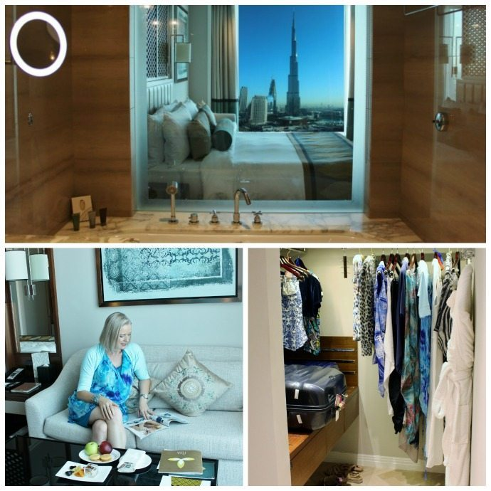 Burj Khalifa View room at the Taj Dubai hotel