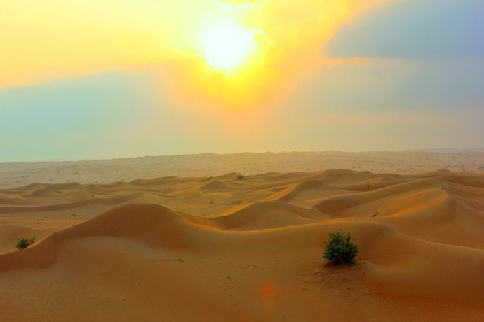 dawn over the dubai desert