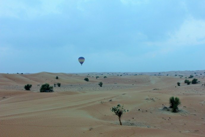 dubai desert at dawn