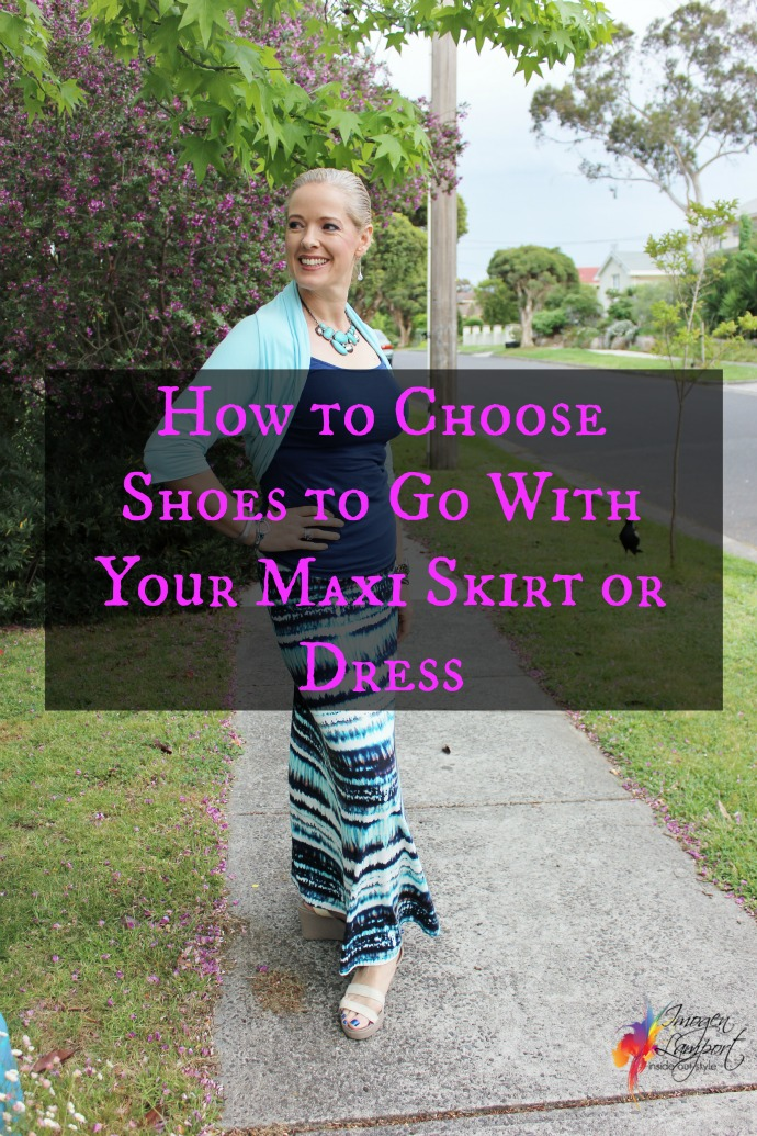 how to choose shoes for your maxi