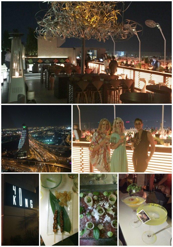 cocktails and bites at 40Kong Dubai