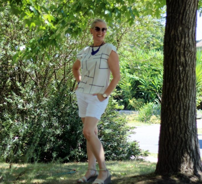 how to style shorts - use a column of colour