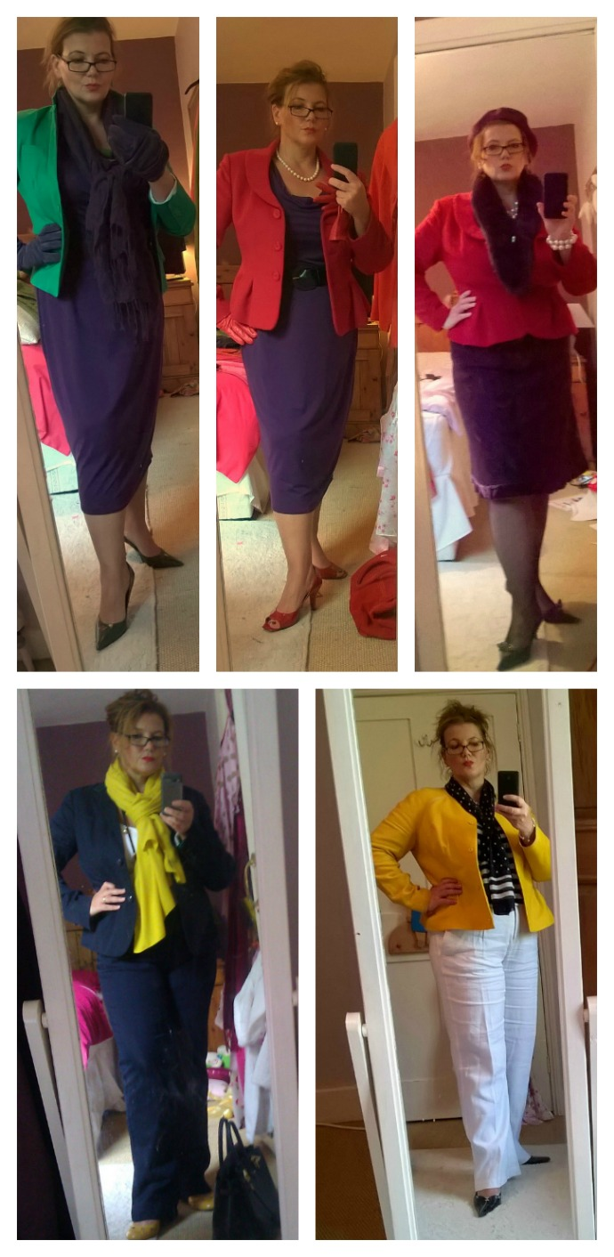 Playing with new colour combinations in outfits