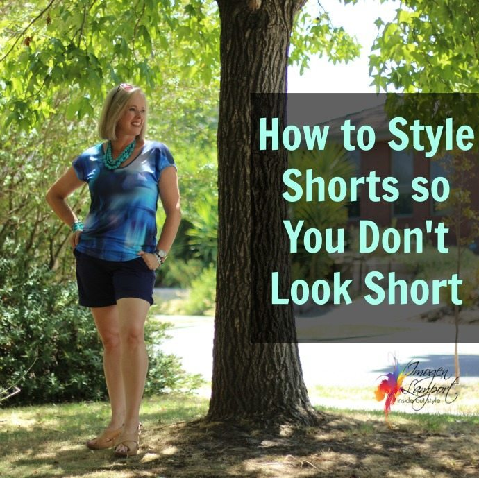 how to style shorts so you don't look shorter