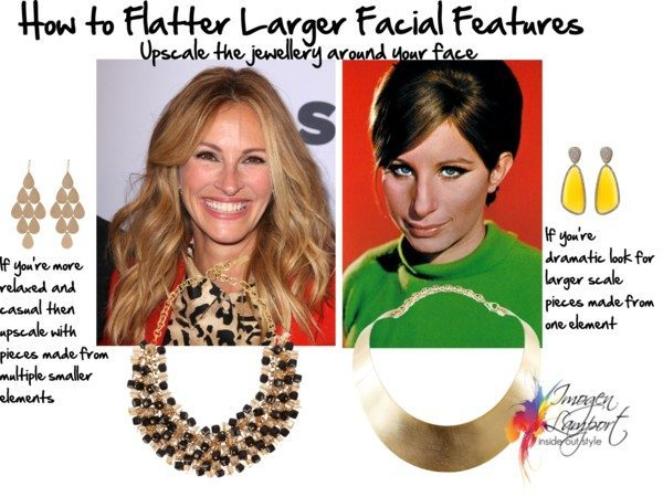 how to flatter larger facial features