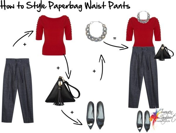 How to Style Paperbag Waist Pants