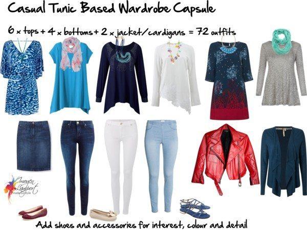 Casual tunic based wardrobe capsule