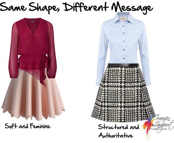 same shape different message