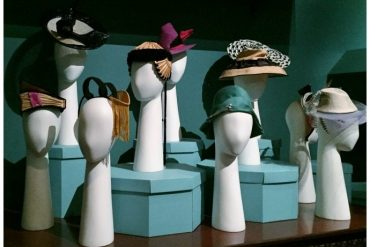 Hats from Australian designers in the 200 Years of Australian Fashion exhibition at NGV