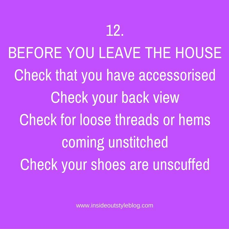 Your style checklist before you leave the house