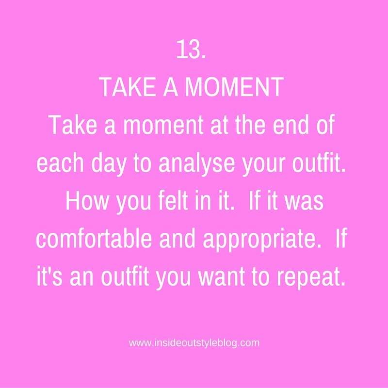13.TAKE A MOMENT