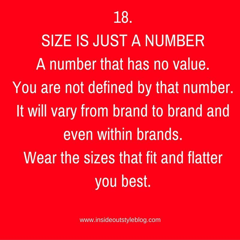 18.SIZE IS JUST A NUMBER