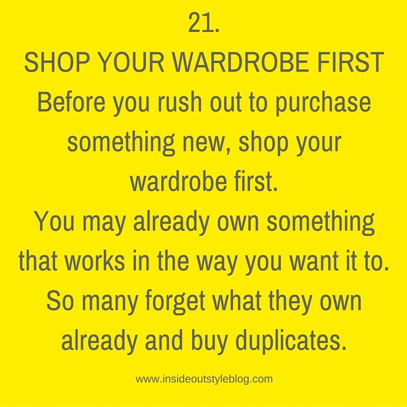 Why You Should shop your wardrobe first