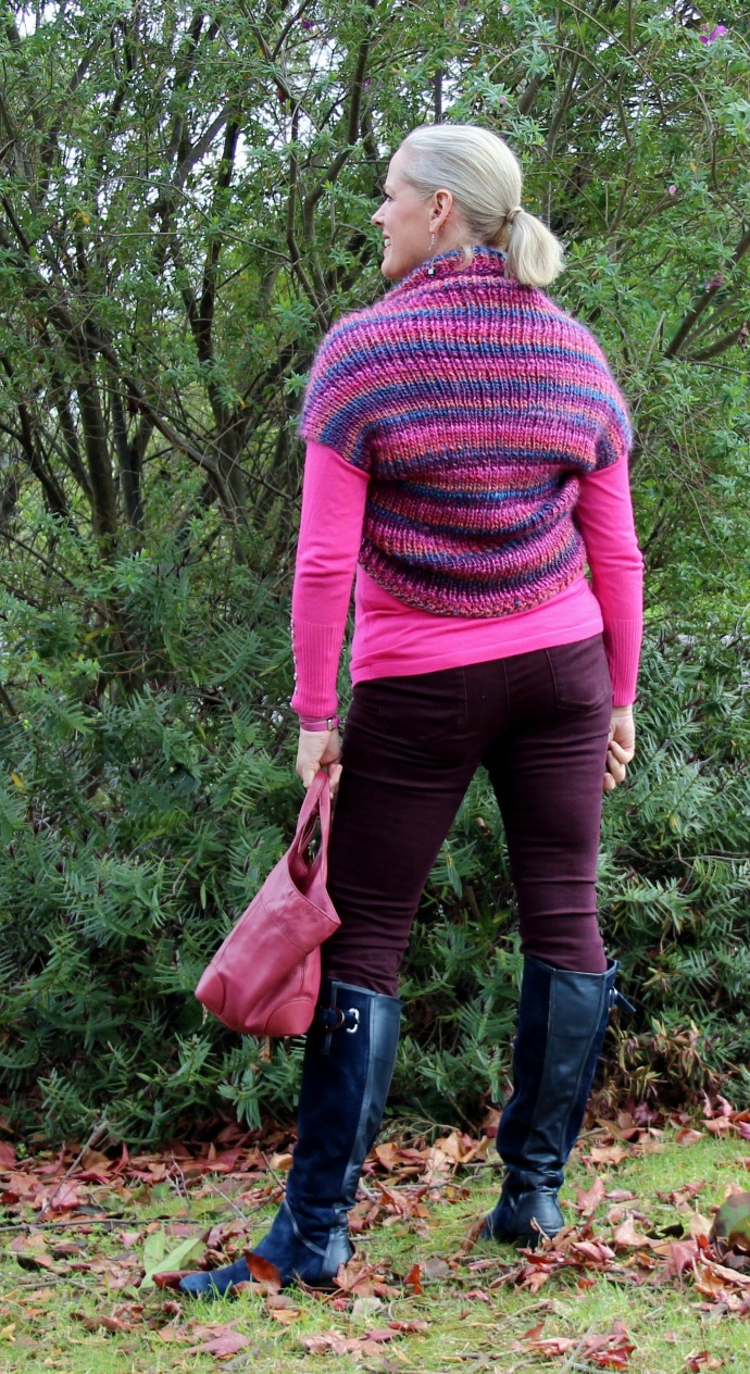How to Knit the Easiest Shrug Ever - Inside Out Style