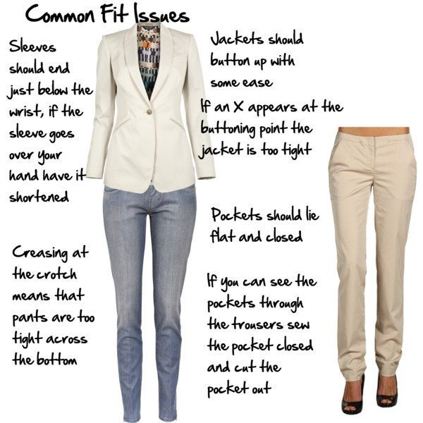 Some of the common issues with fit to avoid or be wary of when shopping