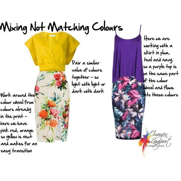 Inside Out Style: How to mix a colour with a print when the colour is not in the print