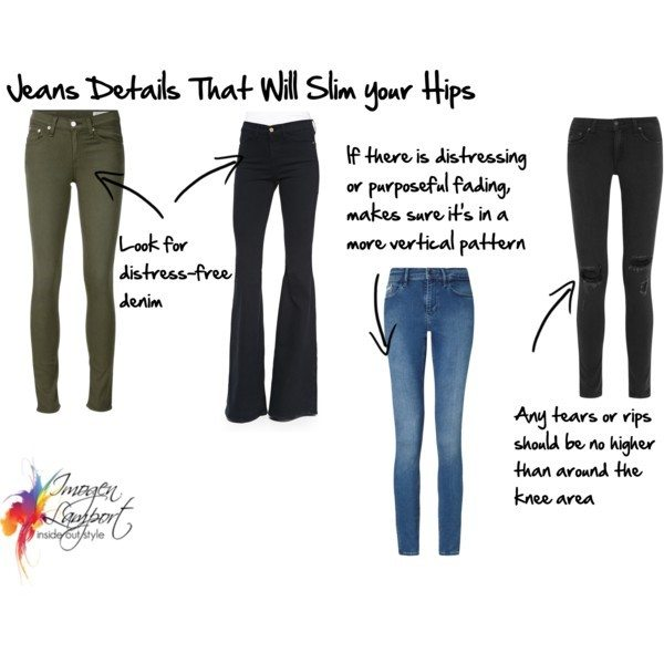 jeans details that will slim your hips