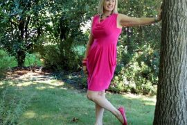 Pink dress and shoes