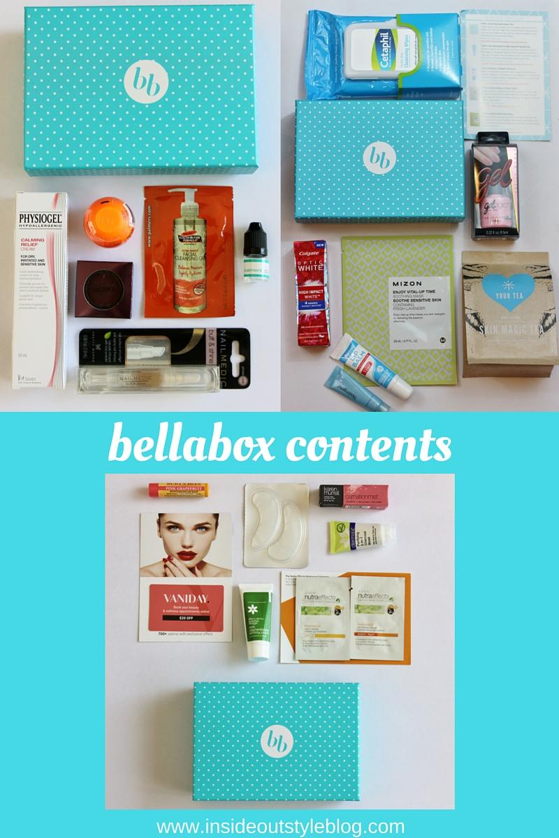 What's inside a bellabox beauty box