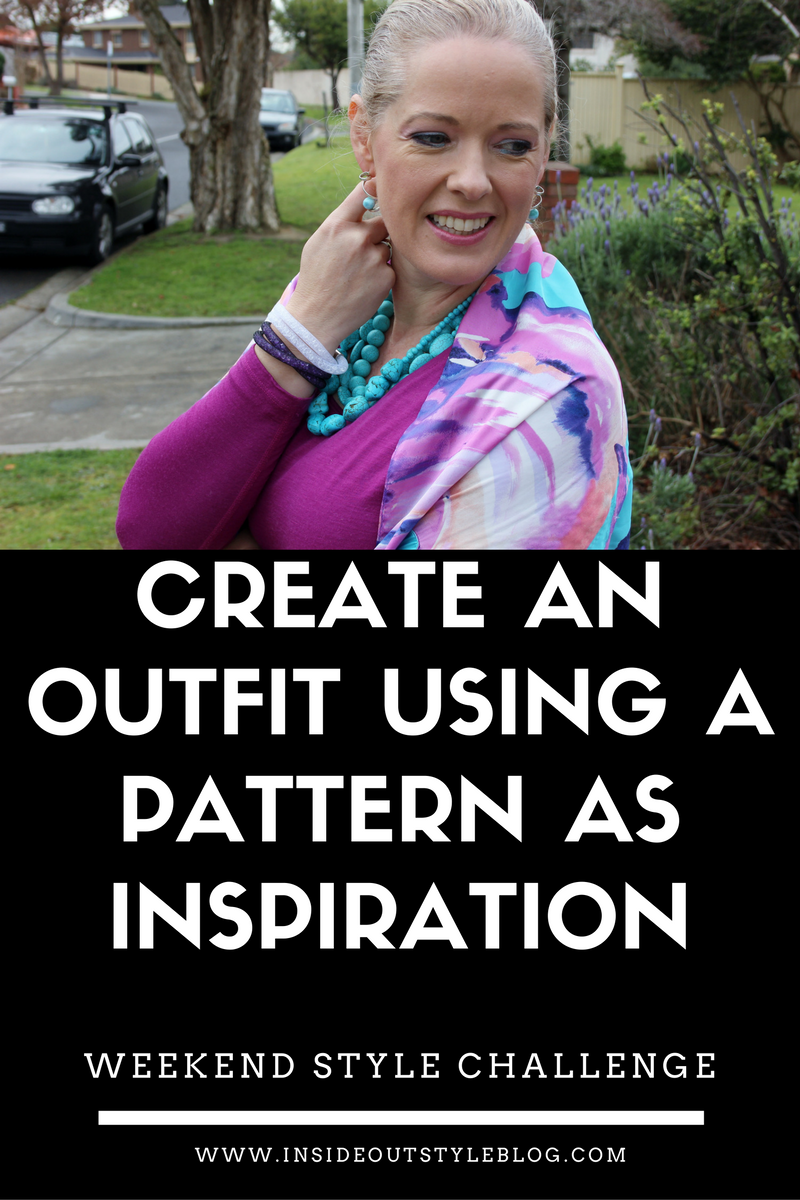 Create an outfit using a pattern - weekend style challenge #insideoutstyle