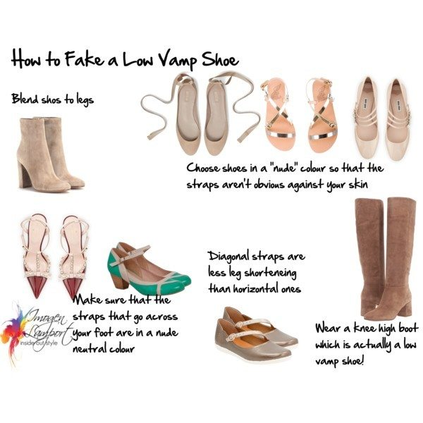 How to Fake a Low Vamp Shoe