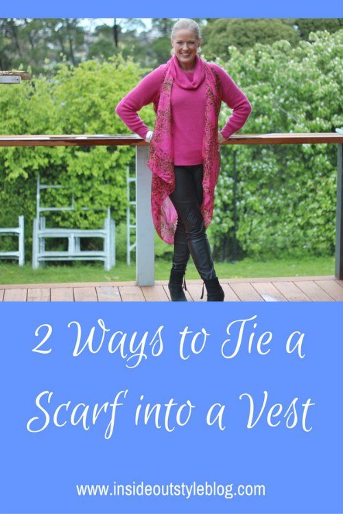 2 ways to tie a scarf into a vest and make use of your large rectangular scarves