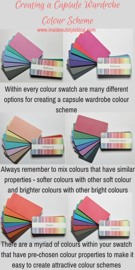 How to create a capsule wardrobe colour scheme using your colour swatch