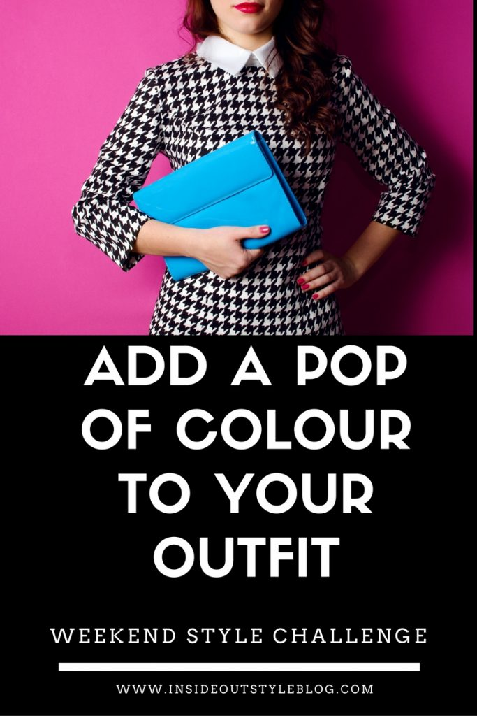 Add a pop of colour to your outfit - weekend style challenge