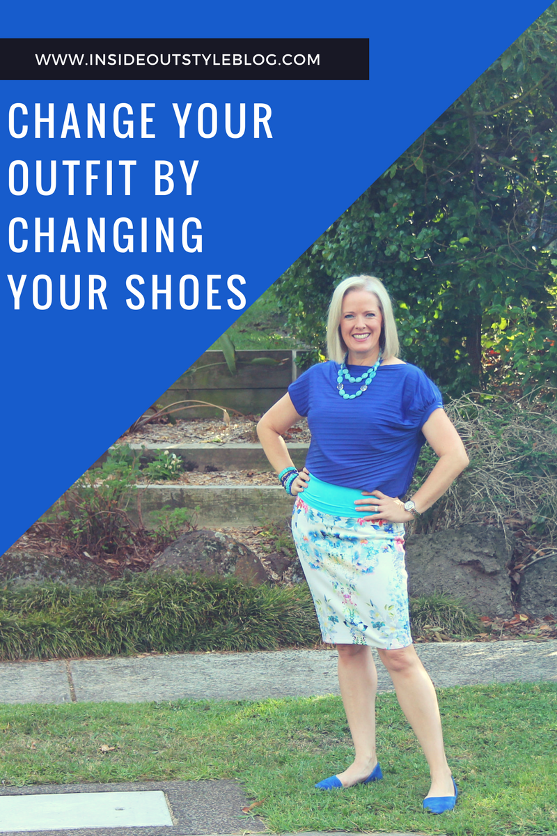 change your shoes to change your outfit