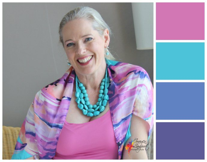 How to Wear Scarves - use them to create an outfit colour scheme