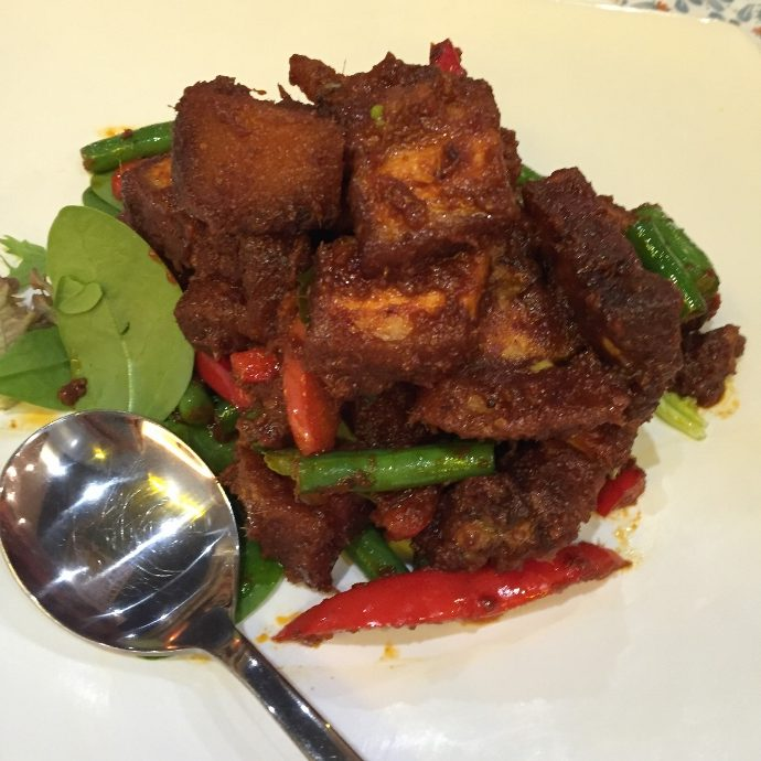 Crispy Pork Belly with Red Sweet Chilli paste