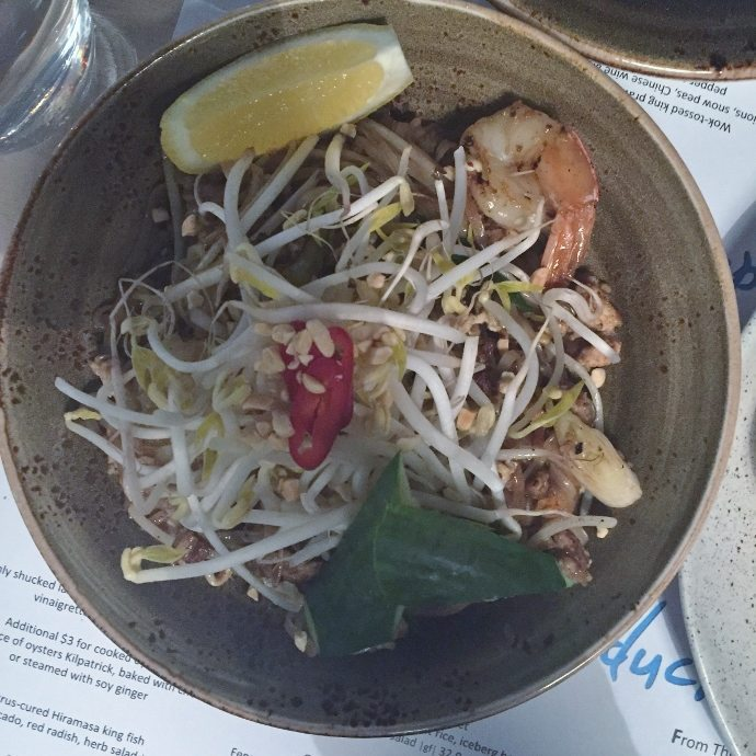 Pad Thai noodle at Noom Duck