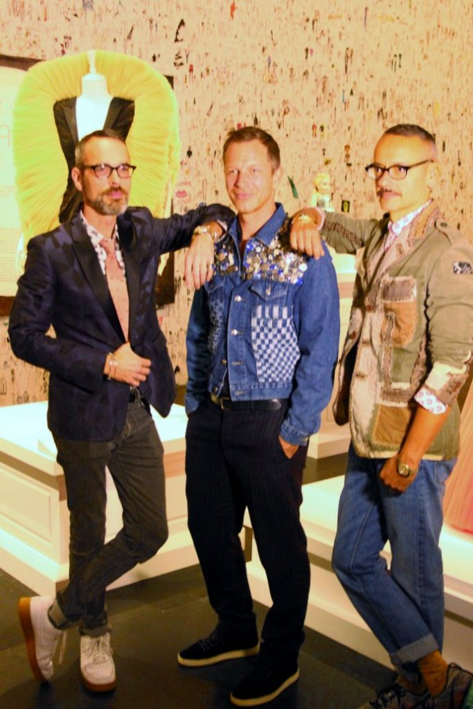 Viktor and Rolf with the exhibition curator Thierry-Maxime Loriot